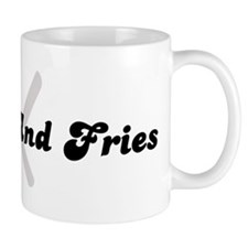 Burger And Fries (fork and kn Mug