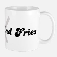 Burger And Fries (fork and kn Mug