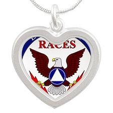 RACESlogo2 Silver Heart Necklace