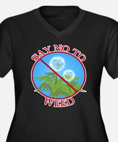 Say No To Weed Dandelion Women's Plus Size V-Neck
