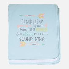 2 Timothy 1:7 Bible Verse baby blanket
