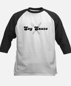 Soy Sauce (fork and knife) Kids Baseball Jersey