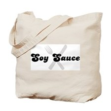 Soy Sauce (fork and knife) Tote Bag