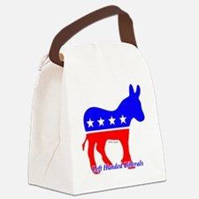 Left Handed Liberals Canvas Lunch Bag