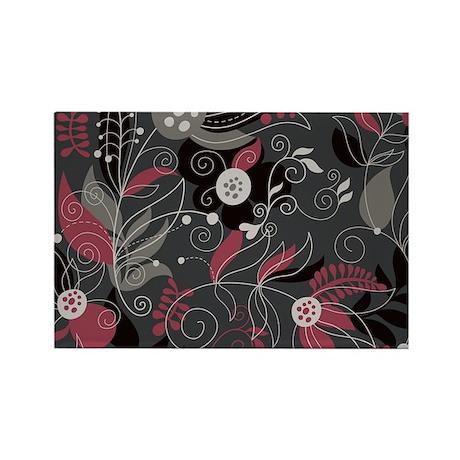 Elegant Floral Rectangle Magnet
