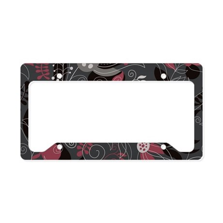 Elegant Floral License Plate Holder