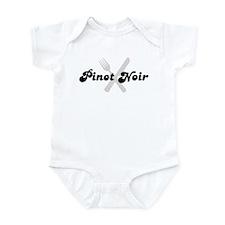 Pinot Noir (fork and knife) Infant Bodysuit