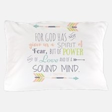 2 Timothy 1:7 Bible Verse Pillow Case