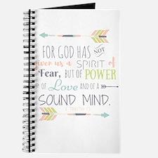 2 Timothy 1:7 Bible Verse Journal