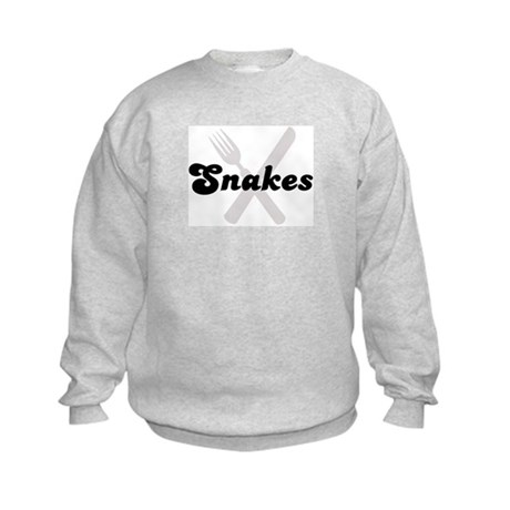 Snakes (fork and knife) Kids Sweatshirt