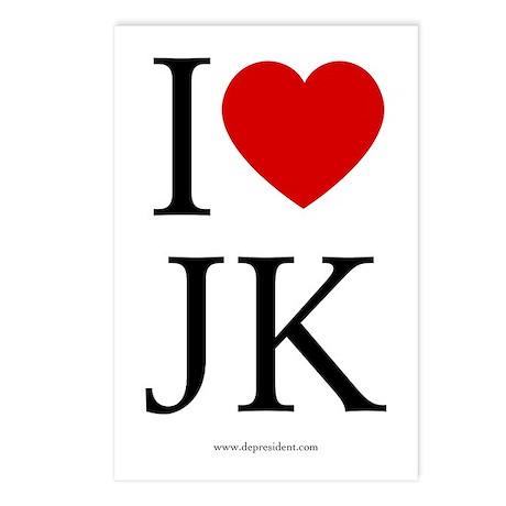 I (heart) JK. Postcards (Package of 8)