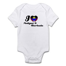 I love antigua and Barbuda Infant Bodysuit