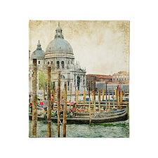 Vintage Venice Photo Throw Blanket