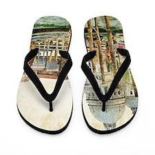 Vintage Venice Photo Flip Flops