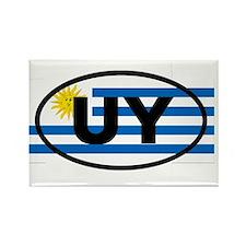 Uruguay UY Rectangle Magnet