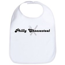 Philly Cheesesteak (fork and  Bib