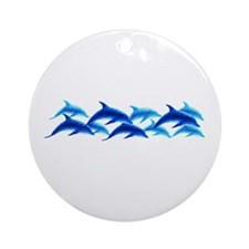 dancing dolphins Ornament (Round)
