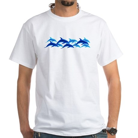 dancing dolphins White T-Shirt