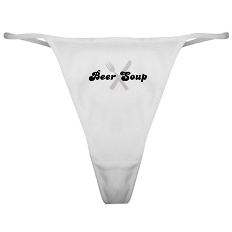 Beer Soup (fork and knife) Classic Thong