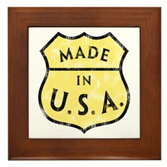 Made In USA Framed Tile