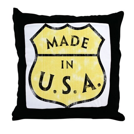 Decorative Pillows Made In Usa : Made In USA Throw Pillow by tshirtypoo