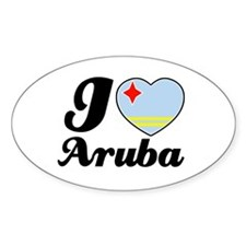 I love Aruba Oval Decal