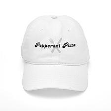 Pepperoni Pizza (fork and kni Baseball Cap