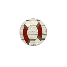 Red Life Ring Mini Button