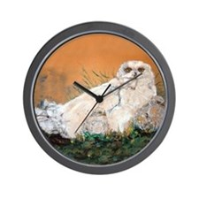 Snowy Owl in Nature Wall Clock
