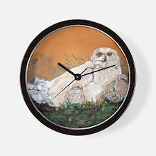 Snowy Owls Wall Clock