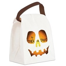 Trick or Treat Jack OLantern Canvas Lunch Bag