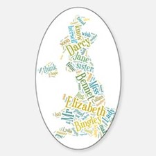 Pride and Prejudice Map Decal