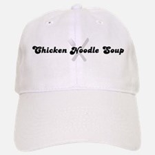 Chicken Noodle Soup (fork and Baseball Baseball Cap