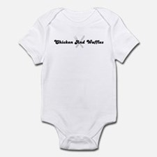 Chicken And Waffles (fork and Infant Bodysuit