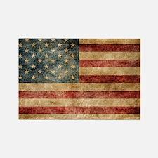 American flag grunge Rectangle Magnet
