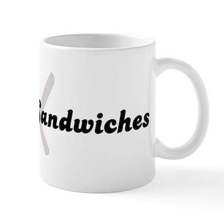 Baloney Sandwiches (fork and Mug