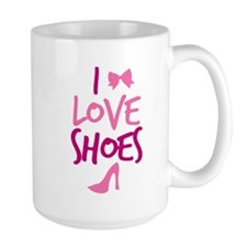 I LOVE Shoes with cute little bow Mugs