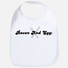 Bacon And Eggs (fork and knif Bib