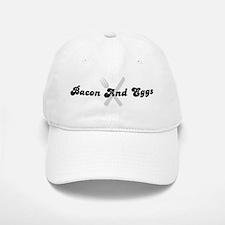 Bacon And Eggs (fork and knif Baseball Baseball Cap