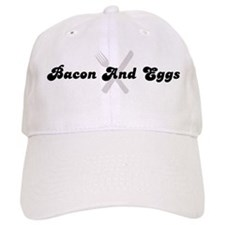 Bacon And Eggs (fork and knif Baseball Cap