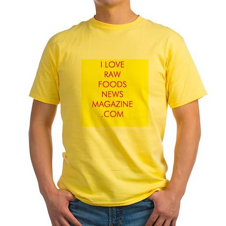 Our red & yellow I LOVE RAWFOODSNEWSMAGAZINE.COM