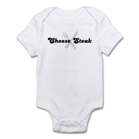 Cheese Steak (fork and knife) Infant Bodysuit