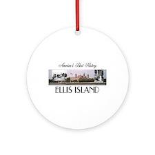 ABH Ellis Island Ornament (Round)