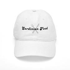 Sardinian Food (fork and knif Baseball Cap
