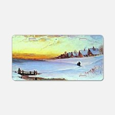 Aleksey Savrasov: Winter La Aluminum License Plate