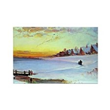 Aleksey Savrasov: Winter Landscap Rectangle Magnet