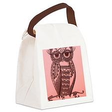 Cute owl Canvas Lunch Bag