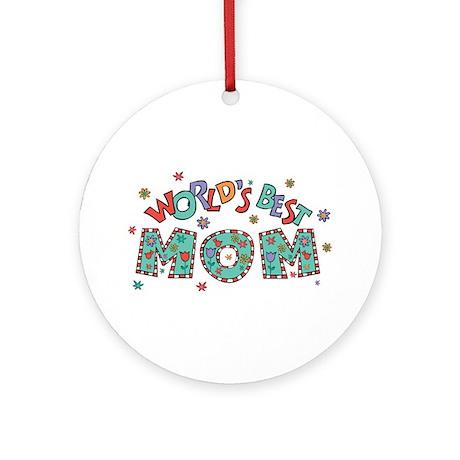 World's Best Mom Ornament (Round)