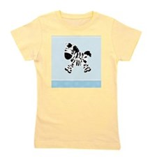Cute Zebra with Blue Dots Girl's Tee