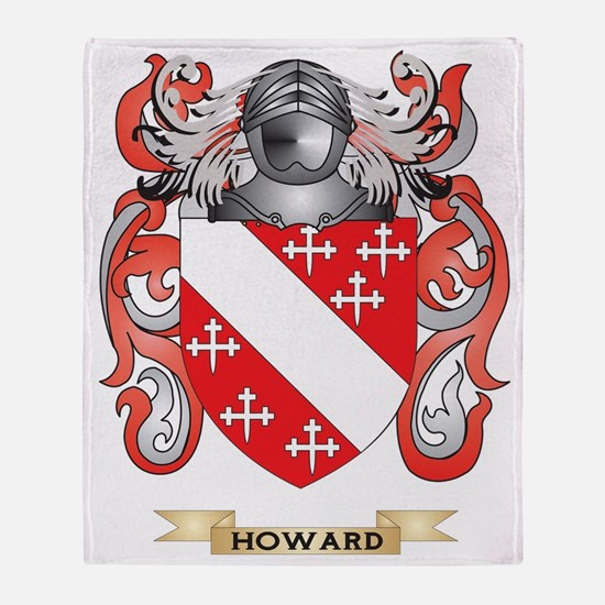 Howard Coat of Arms (Family Crest) Throw Blanket